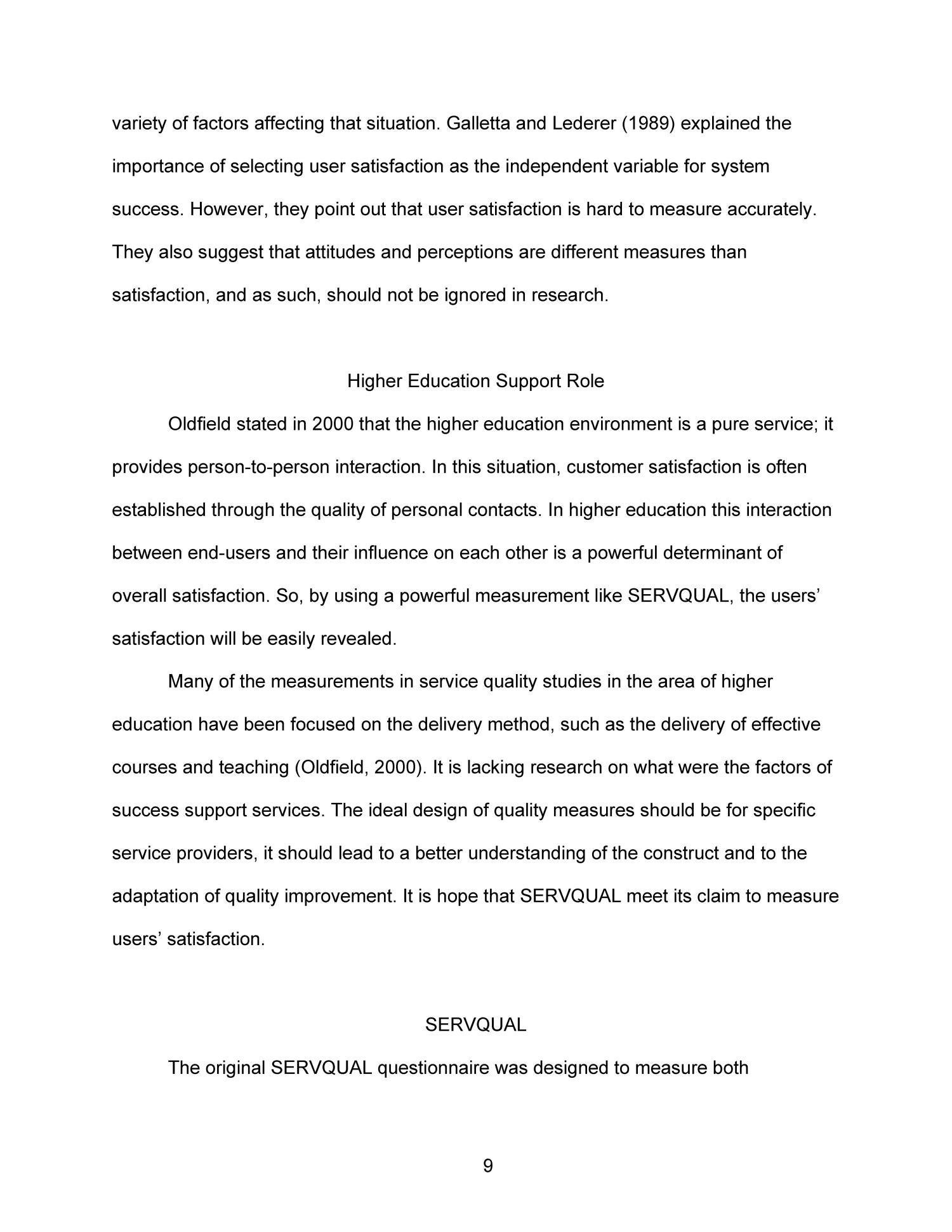 servqual essay