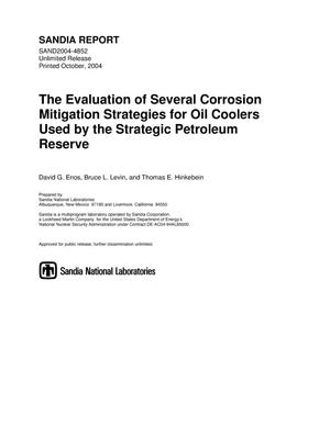 Primary view of object titled 'The evaluation of several corrosion mitigation strategies for oil coolers used by the strategic petroleum reserve.'.