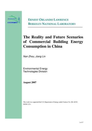 Primary view of object titled 'The Reality and Future Scenarios of Commercial Building Energy Consumption in China'.