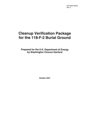 Primary view of object titled 'Cleanup Verification Package for the118-F-2 Burial Ground'.