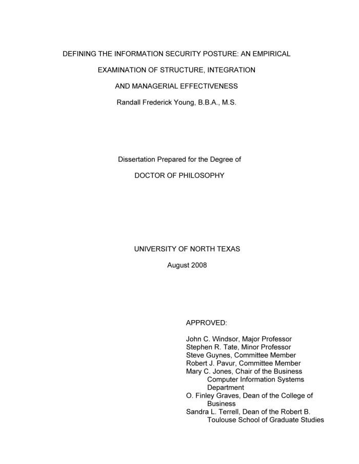 define empirical dissertation