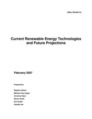 Primary view of object titled 'Current Renewable Energy Technologies and Future Projections'.