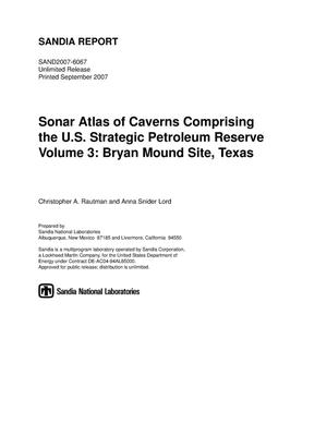 Primary view of object titled 'Sonar atlas of caverns comprising the U.S. Strategic Petroleum Reserve. Volume 3, Bryan Mound Site, Texas.'.