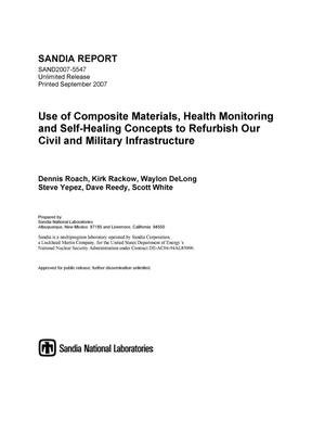 Primary view of object titled 'Use of composite materials, health monitoring and self-healing concepts to refurbish our civil and military infrastructure.'.
