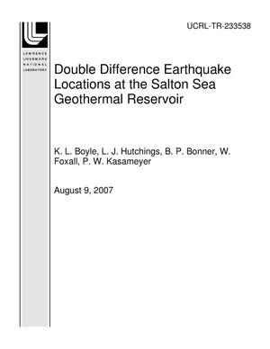 Primary view of object titled 'Double Difference Earthquake Locations at the Salton Sea Geothermal Reservoir'.