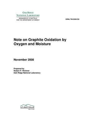 Primary view of object titled 'Note on Graphite Oxidation by Oxygen and Moisture'.