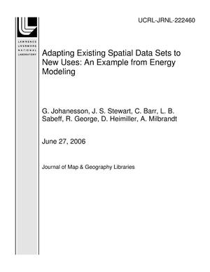 Primary view of object titled 'Adapting Existing Spatial Data Sets to New Uses: An Example from Energy Modeling'.
