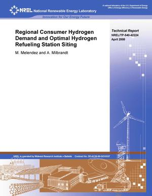 Primary view of object titled 'Regional Consumer Hydrogen Demand and Optimal Hydrogen Refueling Station Siting'.