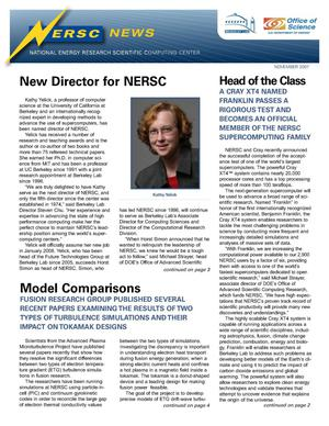 Primary view of object titled 'NERSC News'.