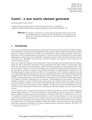 Primary view of object titled 'Comix, a New Matrix Element Generator'.