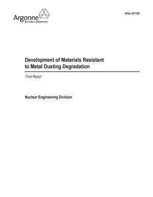 Primary view of object titled 'Development of Materials Resistant to Metal Dusting Degradation-Vol 2'.