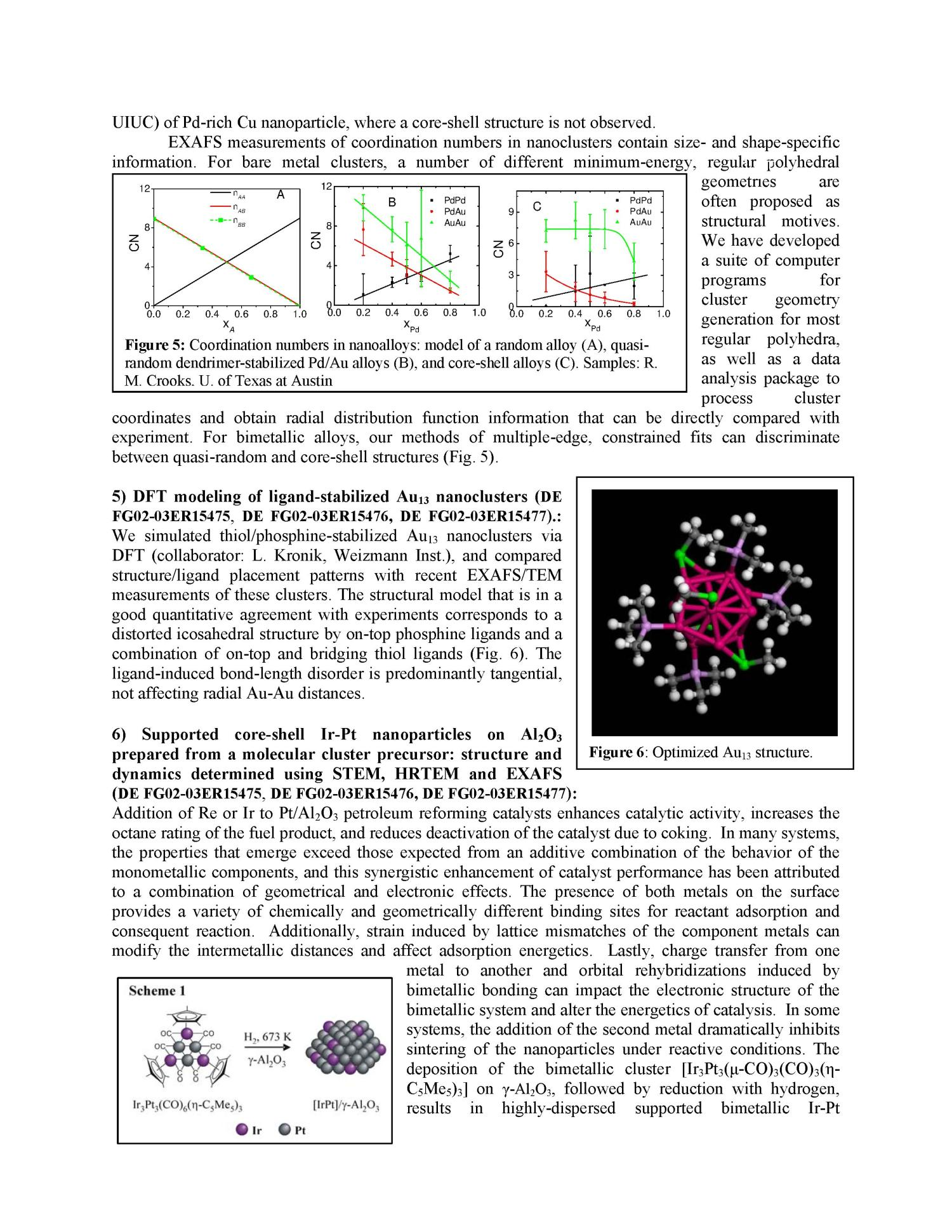 The Reactivity and Structural Dynamics of Supported Metal Nanoclusters Using Electron Microscopy, in situ X-Ray Spectroscopy, Electronic Structure Theories, and Molecular Dynamics Simulations.                                                                                                      [Sequence #]: 4 of 6