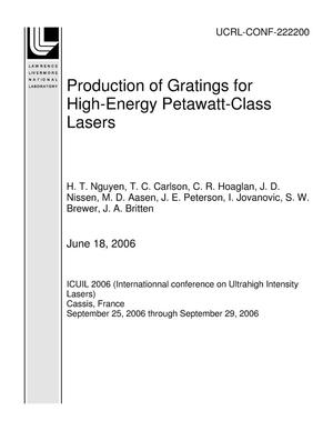 Primary view of object titled 'Production of Gratings for High-Energy Petawatt-Class Lasers'.