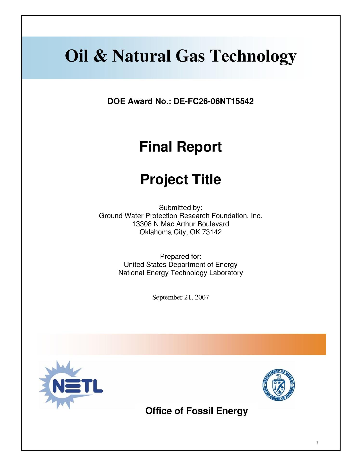 Facilitating Oil Industry Access to Federal Lands through Interagency Data Sharing                                                                                                      [Sequence #]: 1 of 25