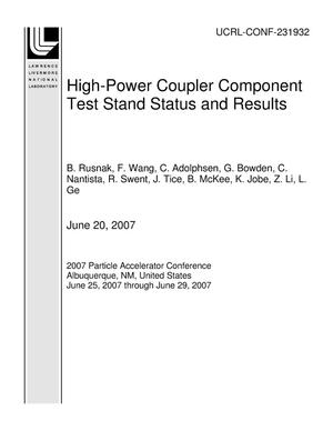 Primary view of object titled 'High-Power Coupler Component Test Stand Status and Results'.