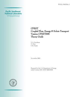 Primary view of object titled 'CFEST Coupled Flow, Energy & Solute Transport Version CFEST005 Theory Guide'.