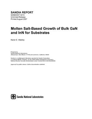 Primary view of object titled 'Molten salt-based growth of bulk GaN and InN for substrates.'.
