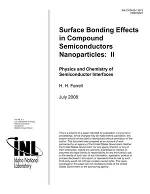 Primary view of object titled 'Surface Bonding Effects in Compound Semiconductor Nanoparticles: II'.
