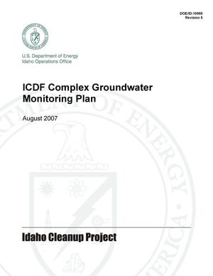 Primary view of object titled 'ICDP Complex Groundwater Monitoring Plan REV 5'.