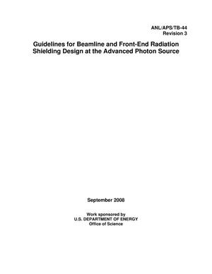 Primary view of object titled 'Guidelines for beamline and front-end radiation shielding design at the Advanced Photon Source.'.