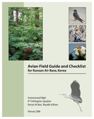 Primary view of object titled 'Avian Field guide and checklist for Kunsan Air Base, Korea.'.