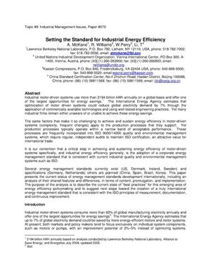 Primary view of object titled 'Setting the Standard for Industrial Energy Efficiency'.