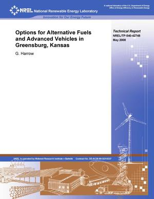 Primary view of object titled 'Options for Alternative Fuels and Advanced Vehicles in Greensburg, Kansas'.