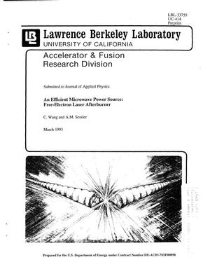 Primary view of object titled 'An Efficient Microwave Power Source: Free-electron Laser Afterburner'.