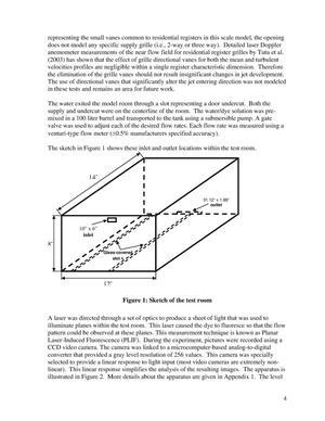 Laser sheet light flow visualization for evaluating room air