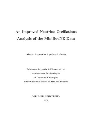 Primary view of object titled 'An improved Neutrino Oscillations Analysis of the MiniBooNE Data'.
