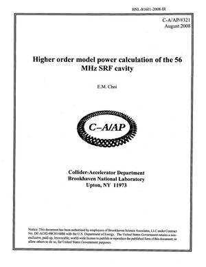 Primary view of object titled 'Higher Order Model Power Calculation of the 56 MHz SRF Cavity'.