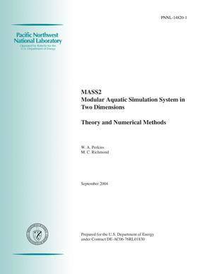 Primary view of object titled 'MASS2, Modular Aquatic Simulation System in Two Dimensions, Theory and Numerical Methods'.
