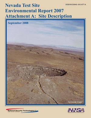 Primary view of object titled 'Nevada Test Site Environmental Report 2007 Attachment A: Site Description'.