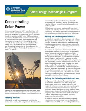 Primary view of object titled 'Concentrating Solar Power'.