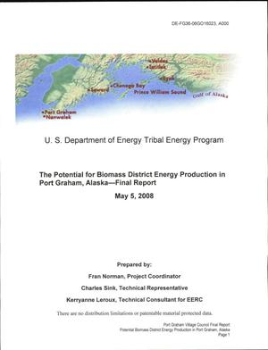 Primary view of object titled 'The Potential for Biomass District Energy Production in Port Graham, Alaska'.