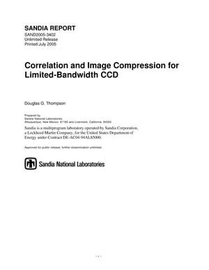 Primary view of object titled 'Correlation and image compression for limited-bandwidth CCD.'.