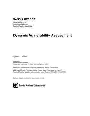 Primary view of object titled 'Dynamic vulnerability assessment.'.