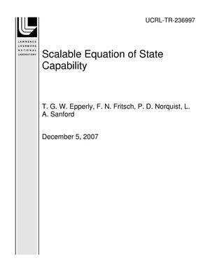 Primary view of object titled 'Scalable Equation of State Capability'.