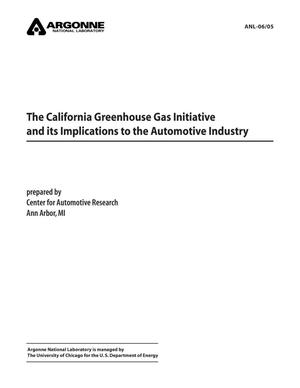 Primary view of object titled 'The California greenhouse gas initiative and its implications to the automotive industry'.