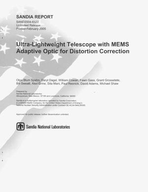Primary view of object titled 'Ultra-lightweight telescope with MEMS adaptive optic for distortion correction.'.