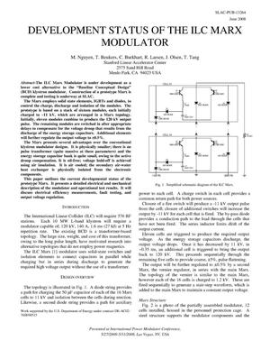 Primary view of object titled 'Development Status of the ILC Marx Modulator'.