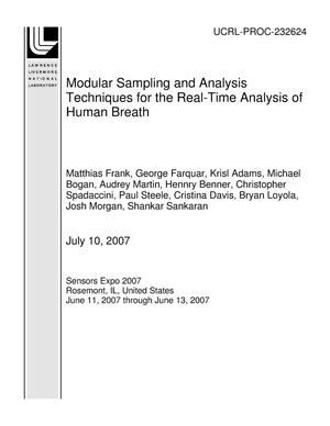 Primary view of object titled 'Modular Sampling and Analysis Techniques for the Real-Time Analysis of Human Breath'.