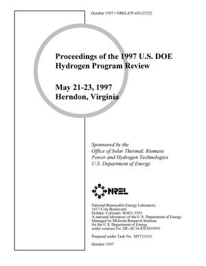 Primary view of object titled 'Proceedings of the 1997 U.S. DOE Hydrogen Program Review, May 21-23, 1997, Herndon, Virginia'.