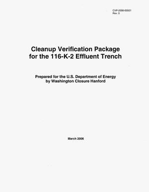 Primary view of object titled 'Cleanup Verification Package for the 116-K-2 Effluent Trench'.