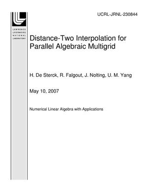 Primary view of object titled 'Distance-Two Interpolation for Parallel Algebraic Multigrid'.