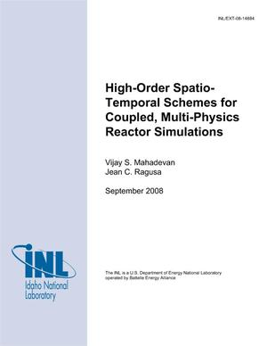 Primary view of object titled 'High-order Spatio-temporal Schemes for Coupled, Multi-physics Reactor Simulations'.