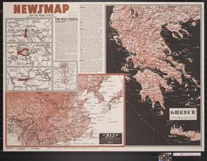 Primary view of object titled 'Newsmap. For the Armed Forces. 266th week of the war, 148th week of U.S. participation'.