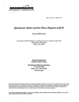 Primary view of object titled 'Quarkyonic Matter and the Phase Diagram of QCD'.