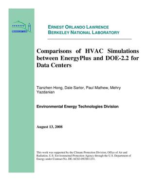 Primary view of object titled 'Comparisons of HVAC Simulations between EnergyPlus and DOE-2.2 for Data Centers'.