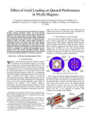 Primary view of object titled 'Effect of Axial Loading on Quench Performance in Nb3Sn Magnets'.
